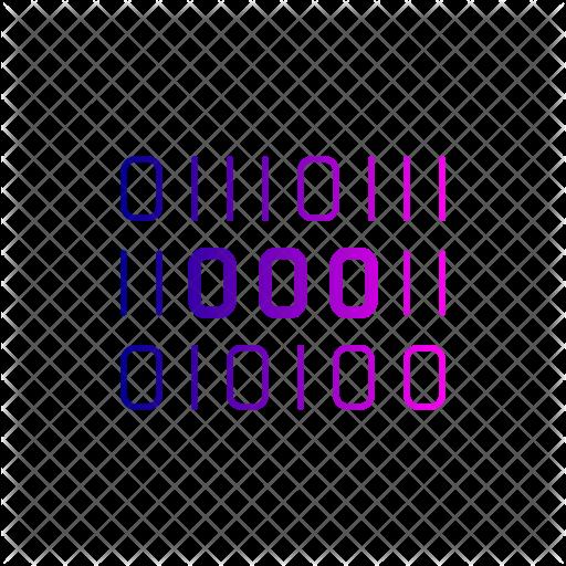 Binary Code Icon - Binary Code PNG