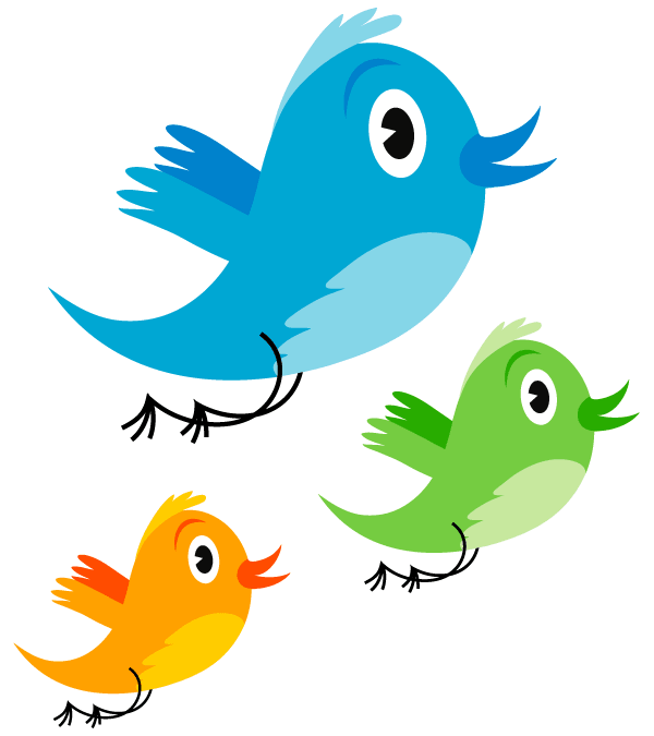 Cute Twitter Bird Vector Image - Birds And Fish PNG