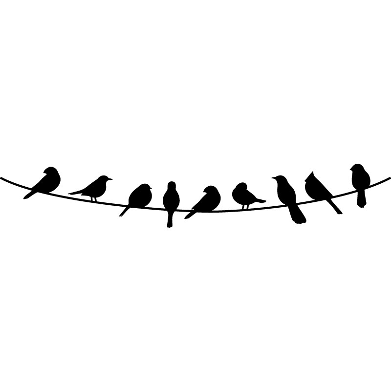 Birds On A Wire PNG - 41731