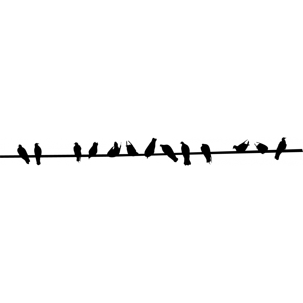 Birds On A Wire PNG - 41736