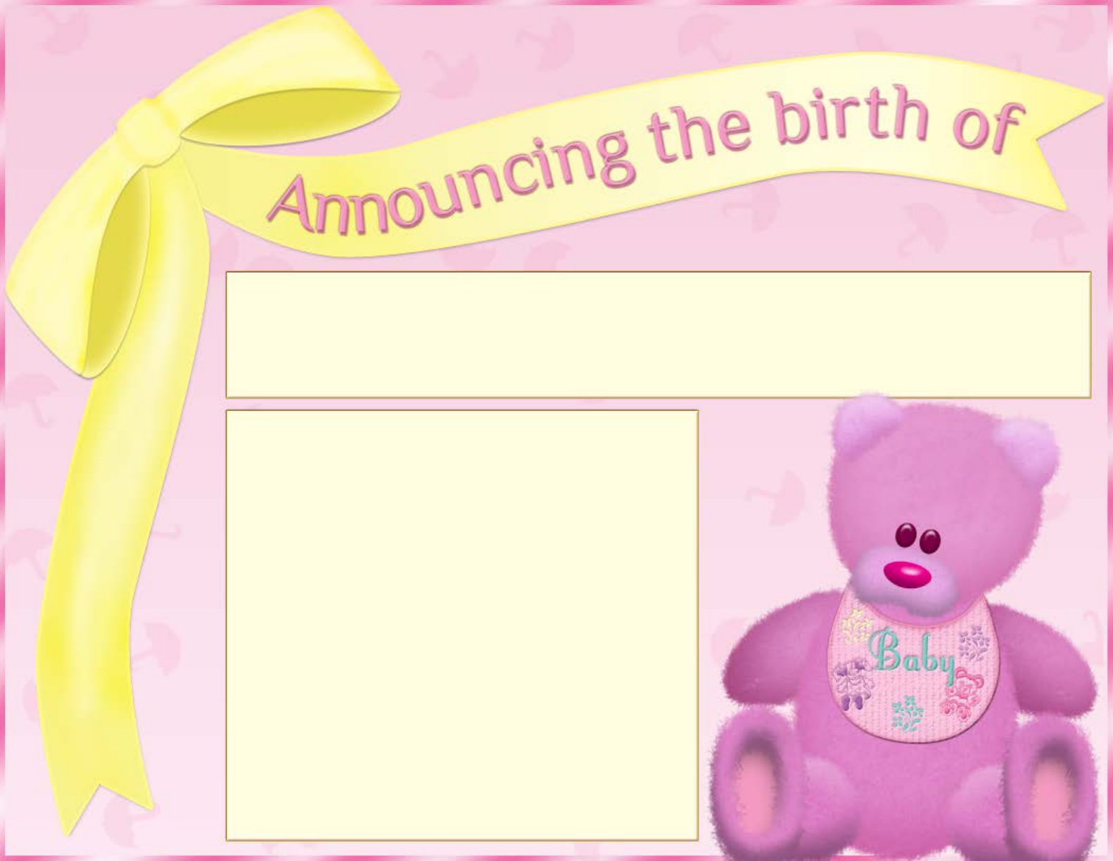 free email birth announcements - Free Baby Announcement Templates