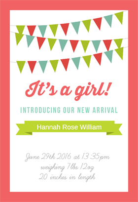 free printable birth announcement template birth announcement png