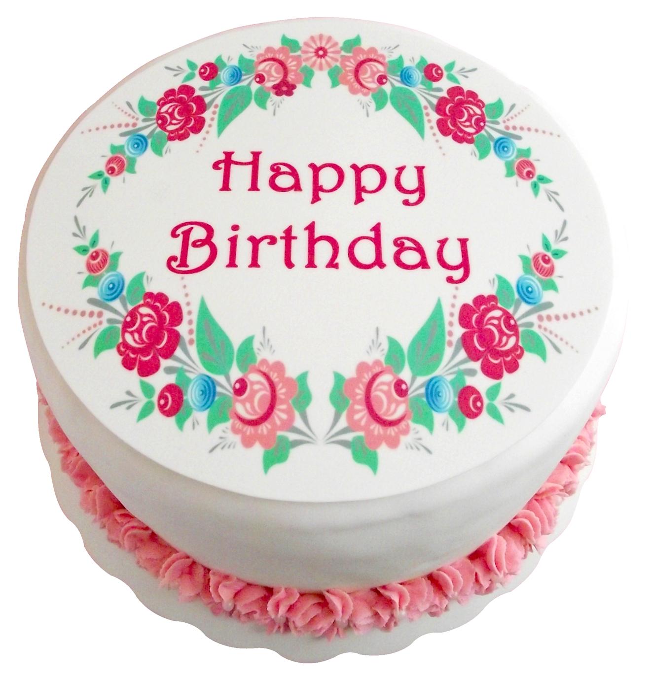 Birthday Cake On Transparency
