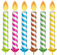 Birthday candales (6).png - Birthday Candles PNG