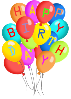 . PlusPng.com birthday greeting with balloons - Birthday Clipart PNG
