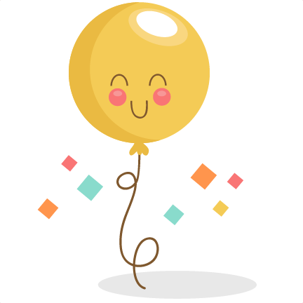 Birthday Balloon SVG scrapbook birthday svg cut files birthday svg files  free svgs free svg cuts - Birthday Cute PNG
