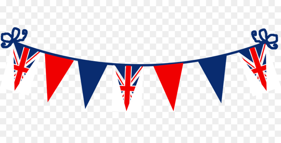 Flag of the United Kingdom Bunting Clip art - Queen Birthday Cliparts - Birthday Flag PNG