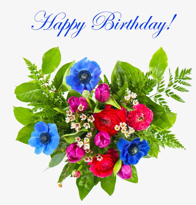 Birthday Flowers PNG HD - 142171