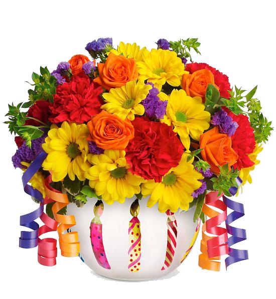 Birthday Flowers PNG HD - 142170
