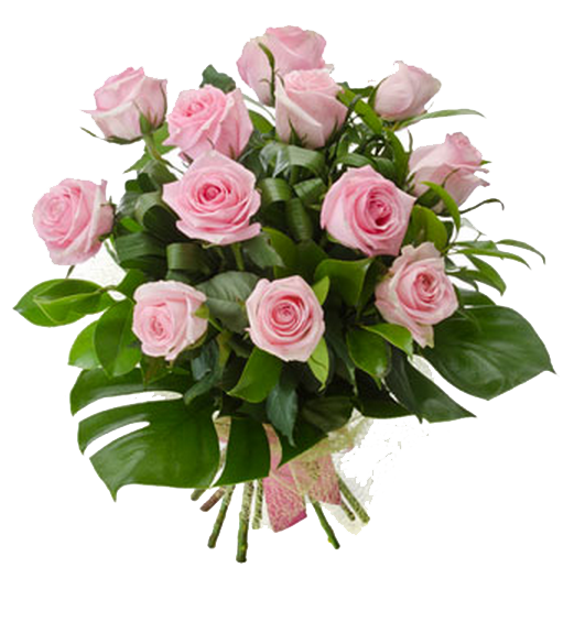 Pink Roses Flowers Bouquet PNG Photo - Birthday Flowers PNG HD