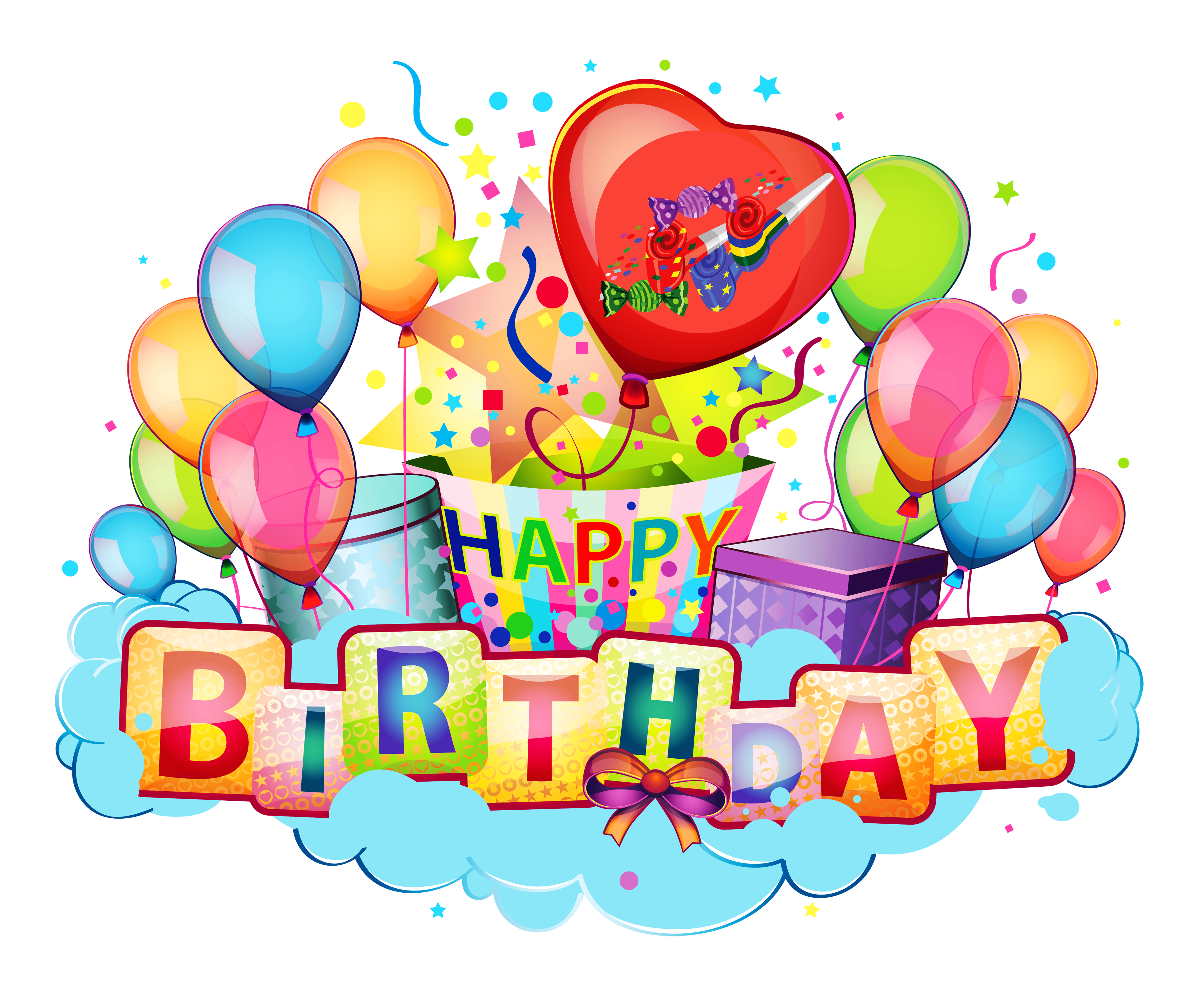 Balloons gift happy birthday wish images free download