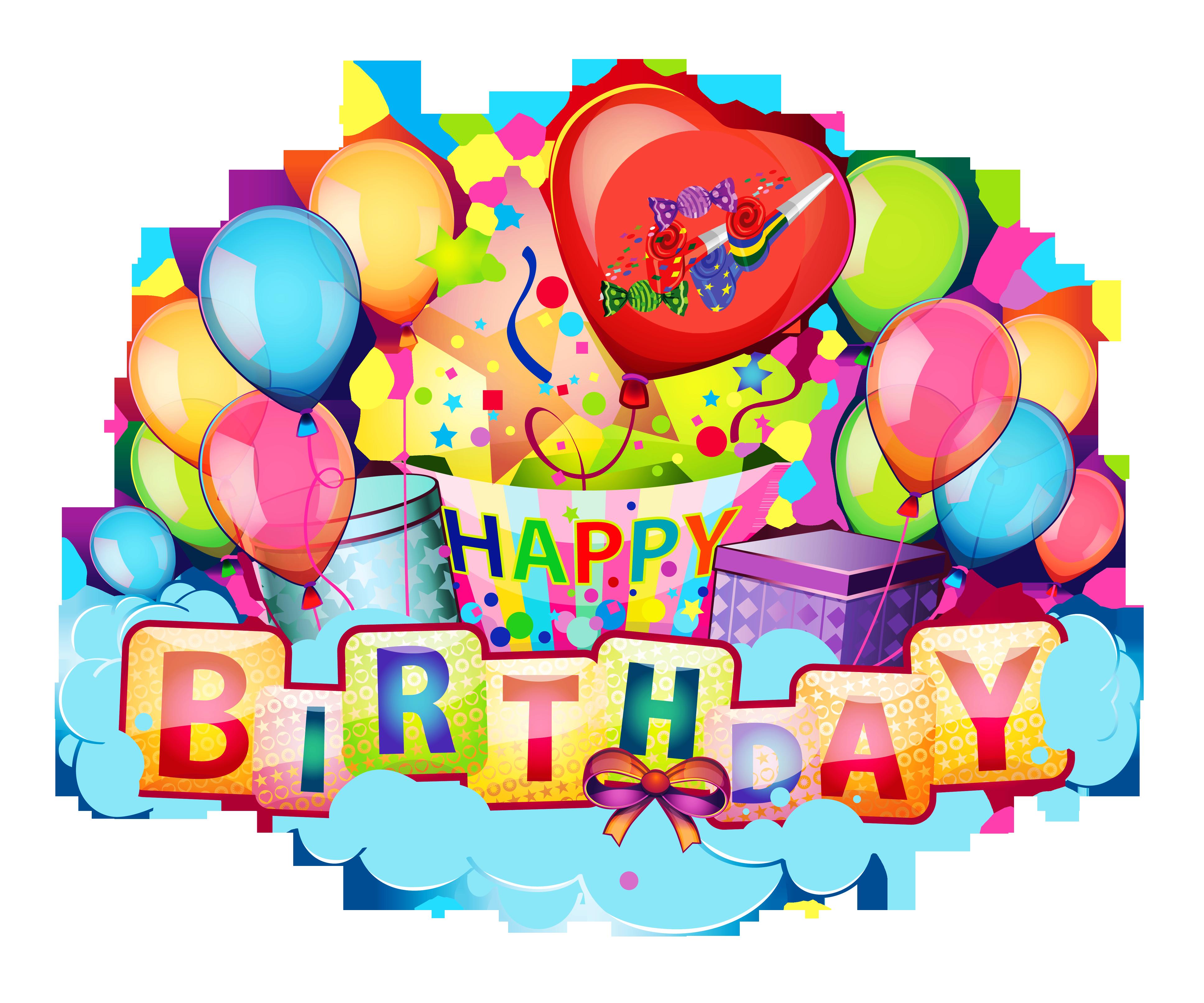 Happy Birthday Balloons Png -
