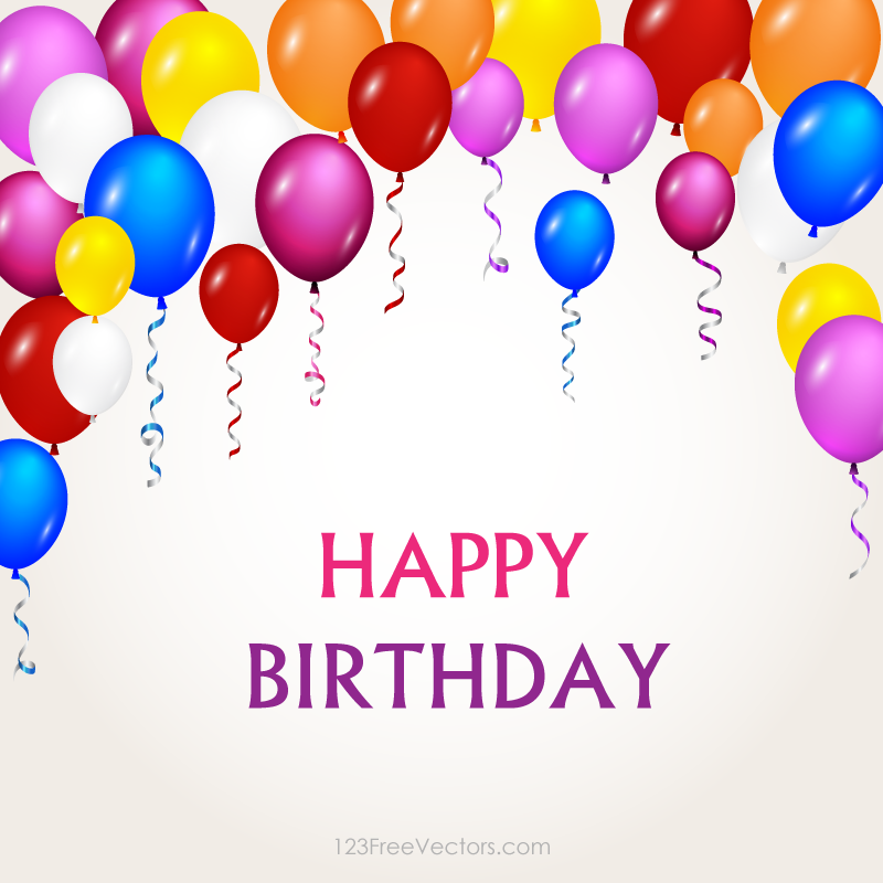 Happy Birthday Balloons Png -