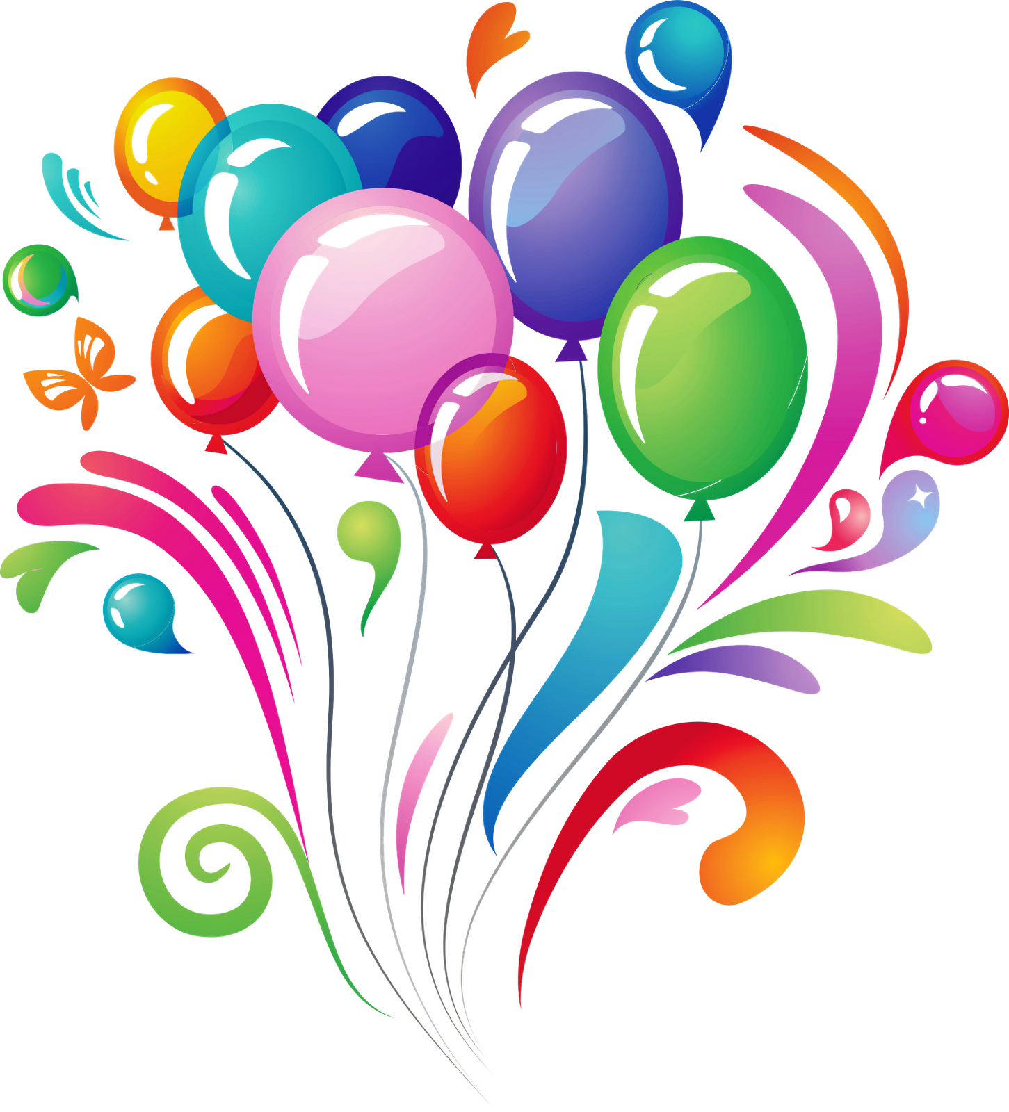 Happy Birthday Balloons Png - Clipart library