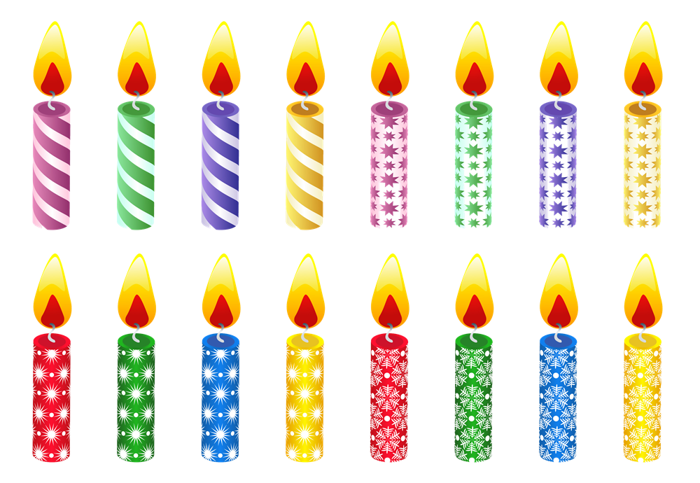 BirtHDay Candles PNG HD
