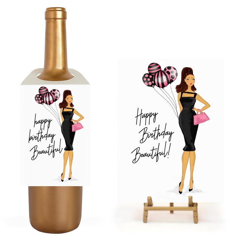 Birthday Balloons Gift Set - Birthday Wine PNG