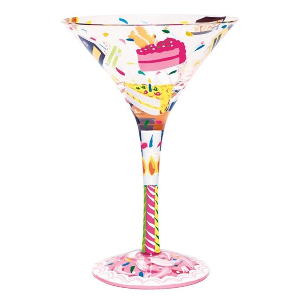 Lolita Birthday Cake Martini Glass - Birthday Wine PNG