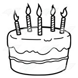 Black And White Cake PNG - 155706