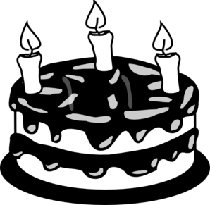 Black And White Cake PNG - 155693