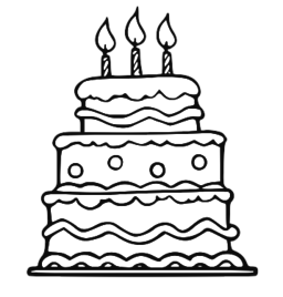 Black And White Cake PNG - 155697