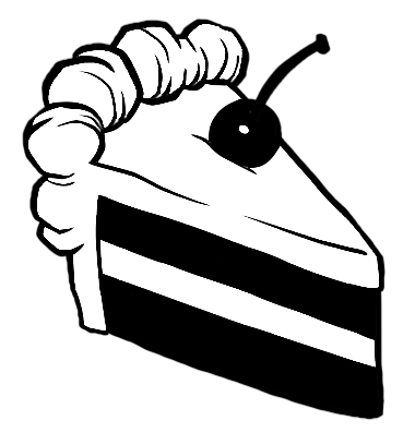 Black And White Cake PNG - 155689
