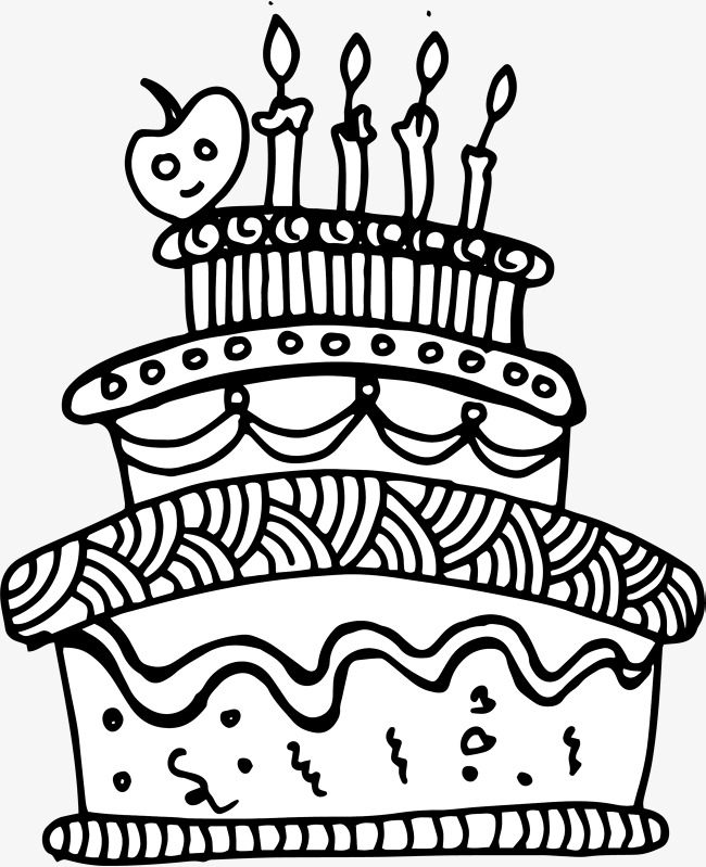 Black And White Cake PNG - 155696
