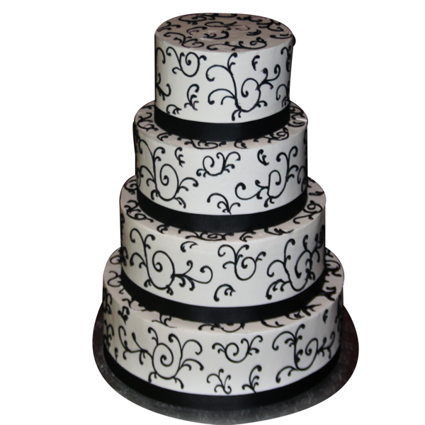 Black And White Cake PNG - 155700