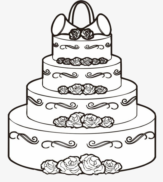 Black And White Cake PNG - 155702