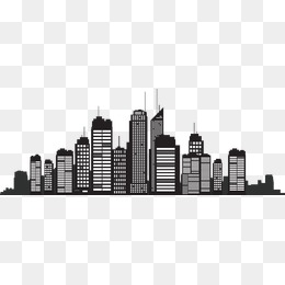 Building Silhouette, City Silhouette, Building Silhouette, Building Vector  PNG and Vector - Black And White City PNG