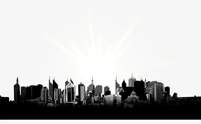 City skyline, Skyline, City, Building PNG and PSD - Black And White City PNG