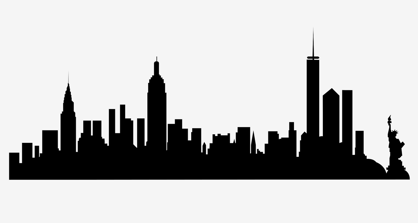 New York City skyline silhouette free svg - Black And White City PNG