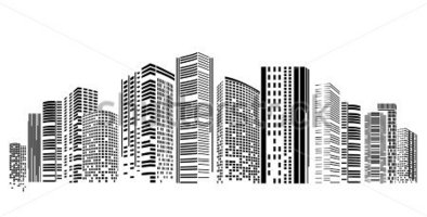 pin Architecture clipart city building #5 - Skyscraper PNG Black And White - Black And White City PNG