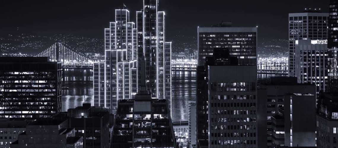 This Black u0026 White Timelapse Film Of San Francisco As Gotham City Is Epic  -UpOut Blog - Black And White City PNG