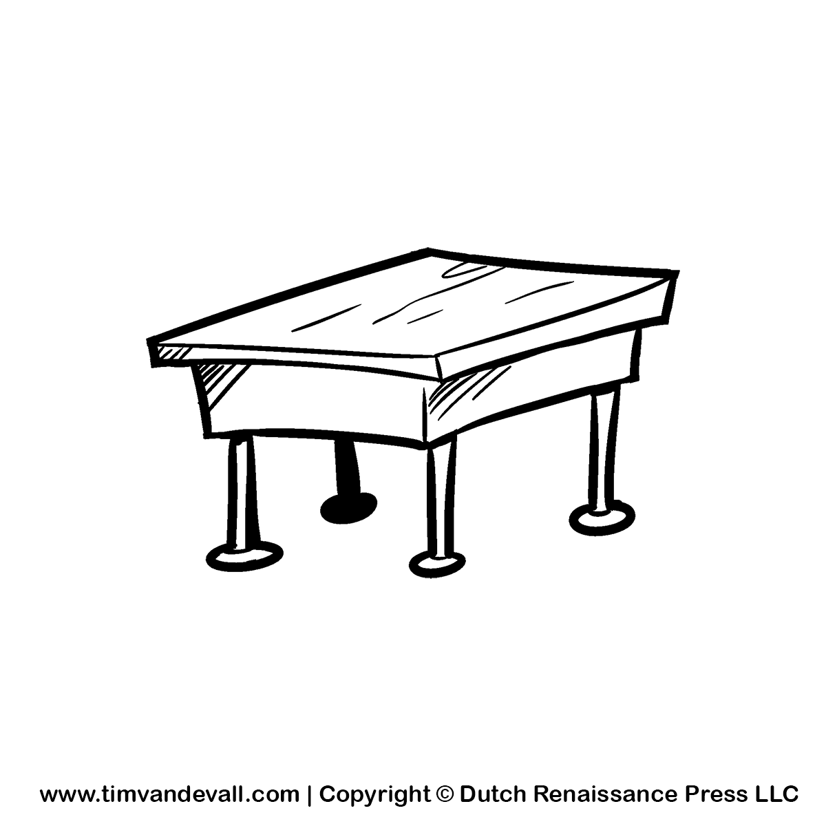 Black And White Desk Png Pluspng Com 1200