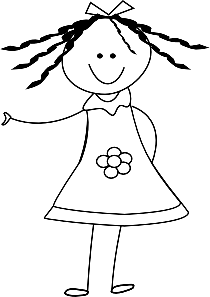 Download this image as: - Black And White Doll PNG