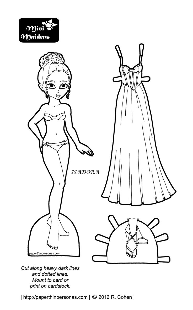 isadora-paper-doll-prom1.png (810×1301) - Black And White Doll PNG
