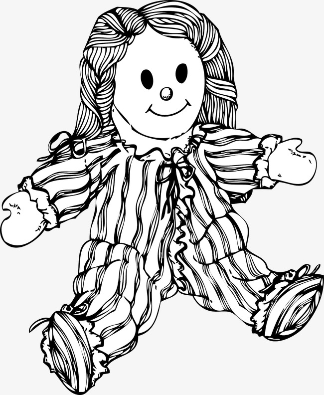 toy dolls, Doll, Toy, Toy Clipart PNG Image and Clipart - Black And White Doll PNG