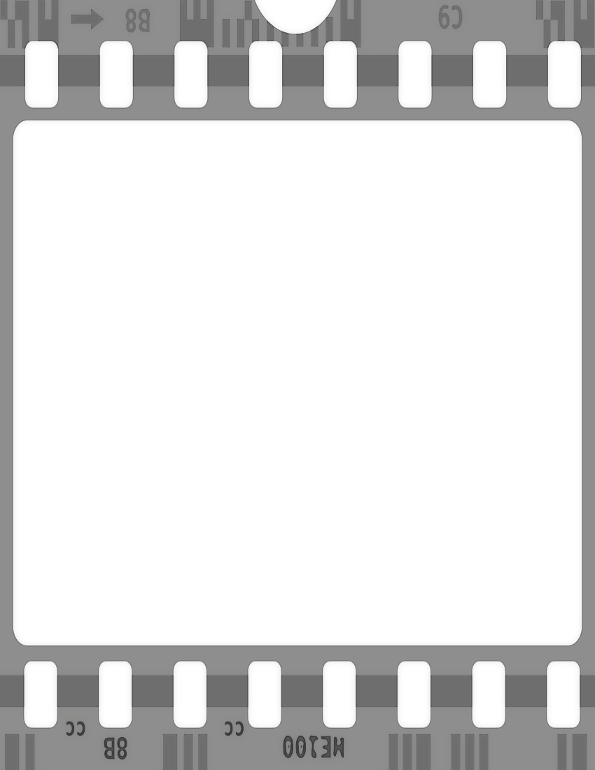 Black And White Film Strip PNG - 157809