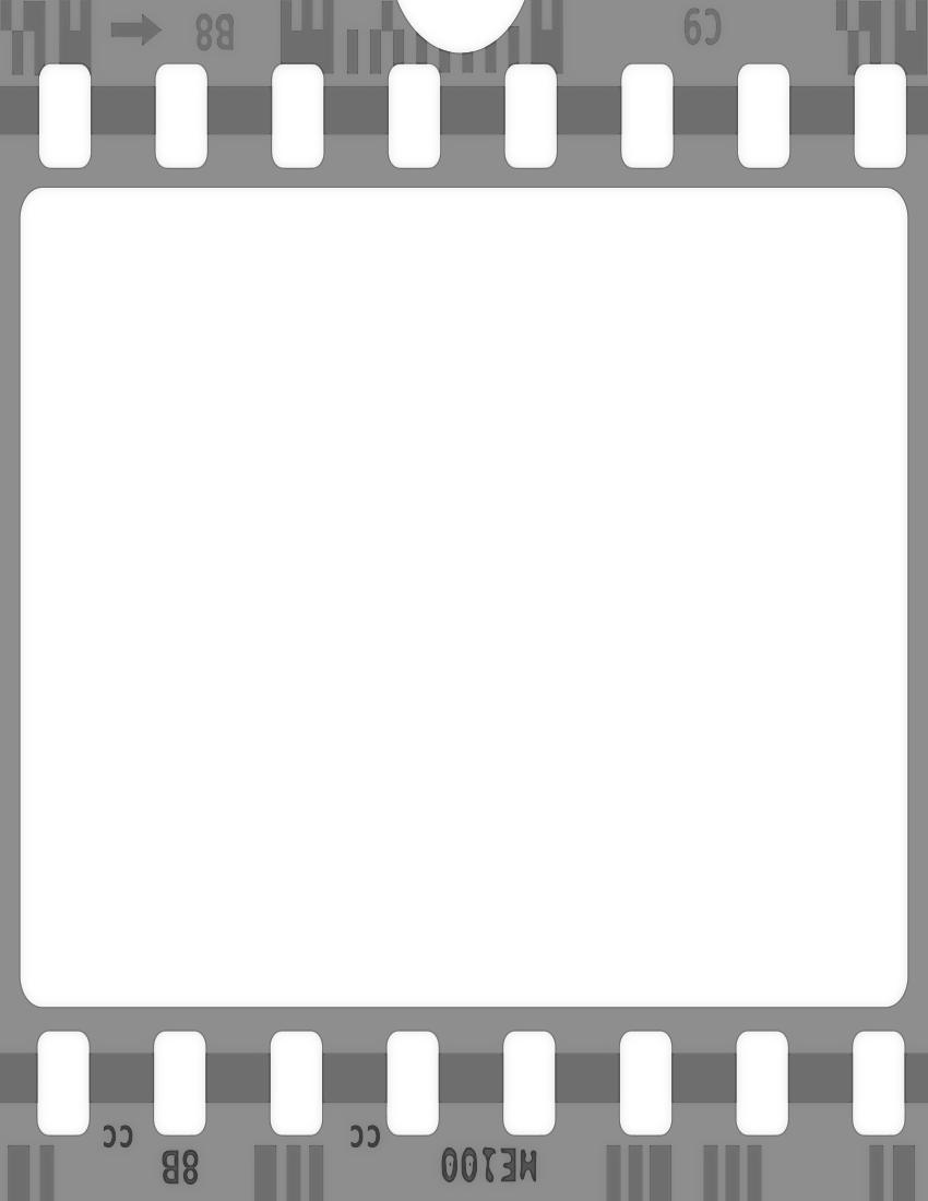 Film Strip: Black And White Film Strip PNG Transparent Black And White