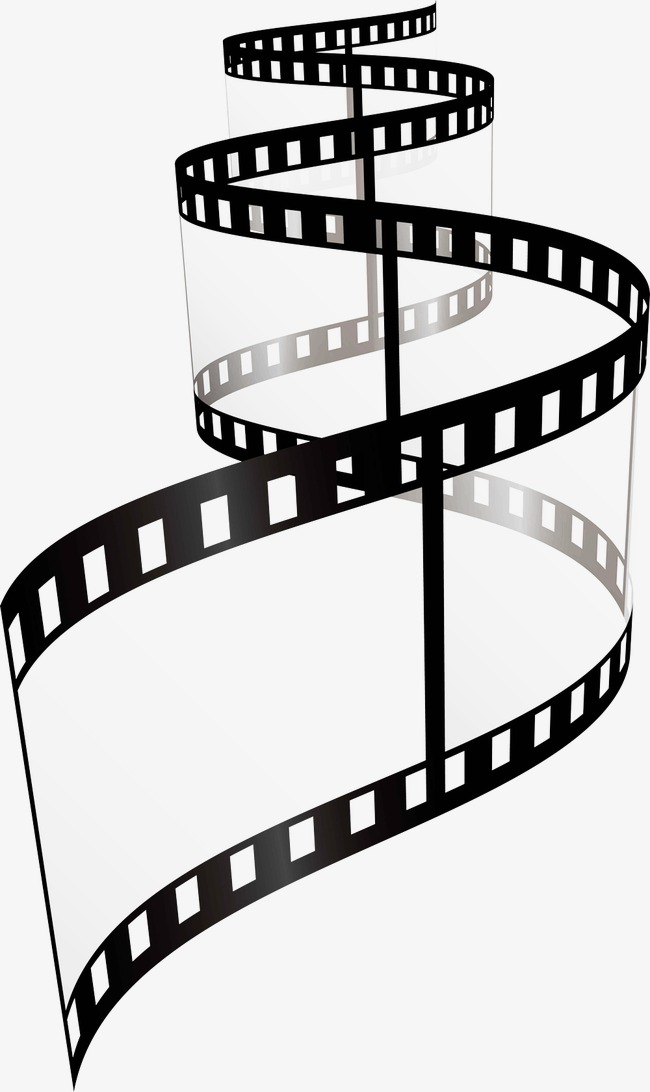 Black And White Film Strip PNG - 157806