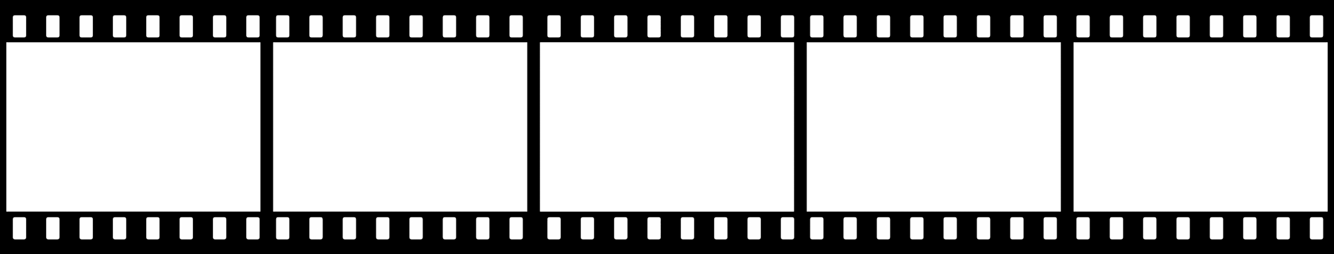 Black And White Film Strip PNG - 157795
