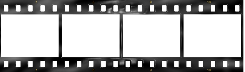 Black And White Film Strip PNG - 157796