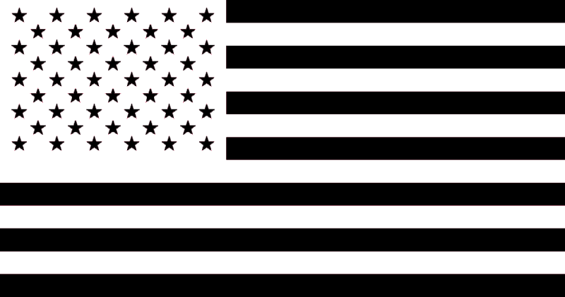 Black American Flag by person25 PlusPng.com  - Black And White Flag PNG