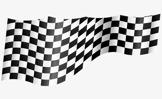 black and white flag vector, Ribbon, Ribbon, Elegant PNG and Vector - Black And White Flag PNG