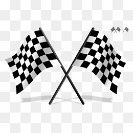 Black and white racing flags vector material, Black And White, Vector,  Racing Flags - Black And White Flag PNG