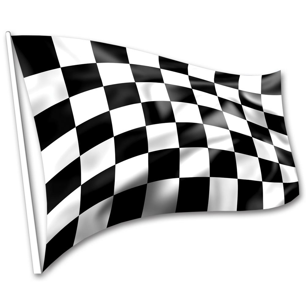 Black/White Chequered Display Flag 1.5m x 90cm - Black And White Flag PNG