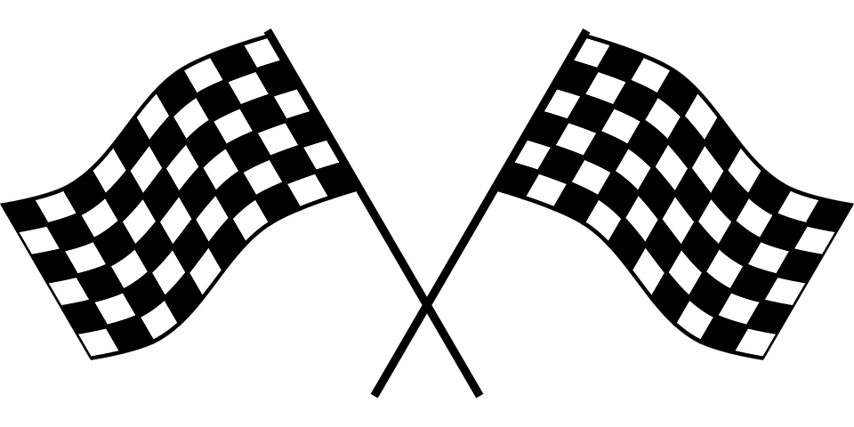 checker flag race checkered flag checkered win - Black And White Flag PNG
