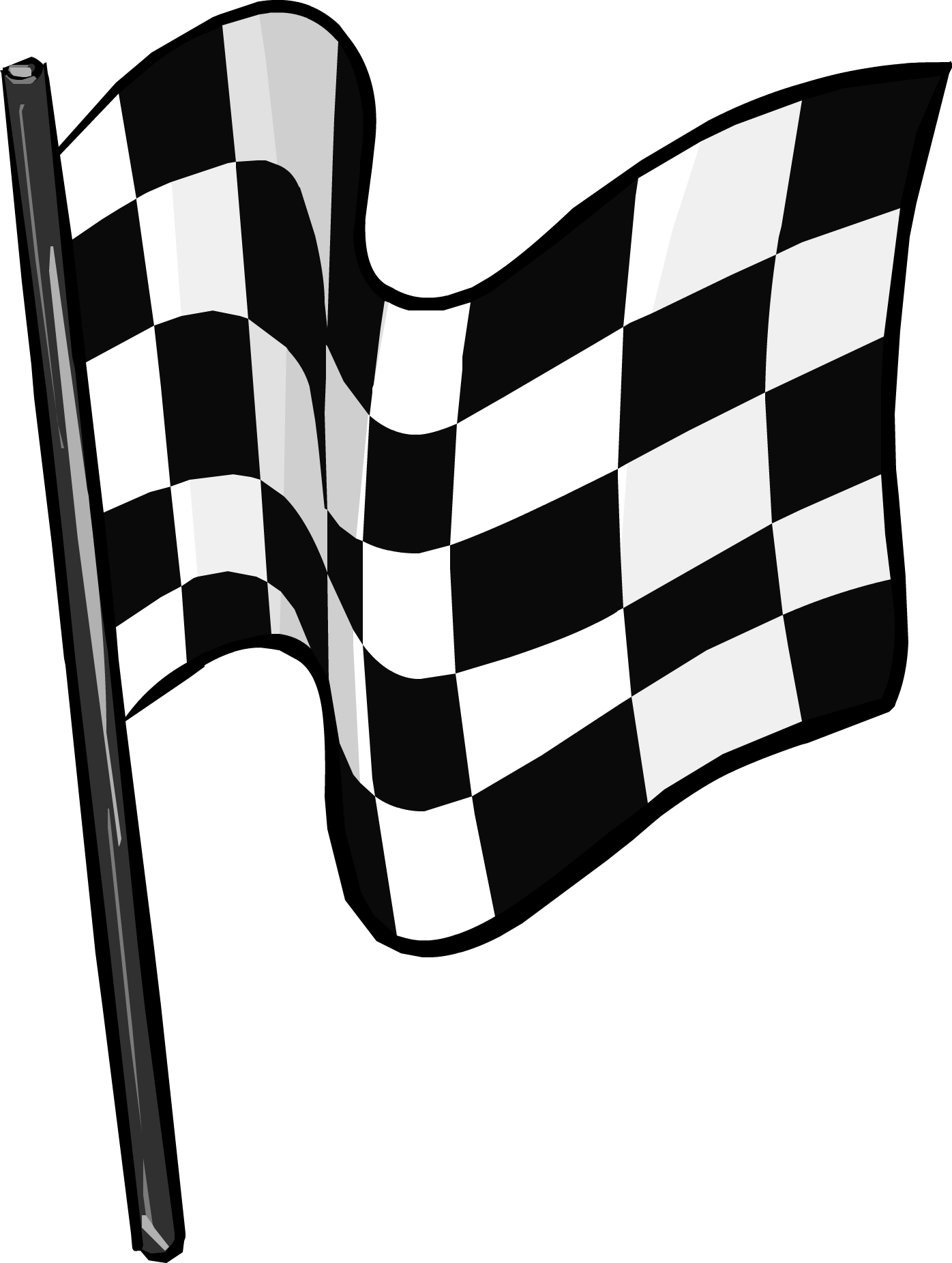 Checkered Flag clothing icon ID 5193.png - Black And White Flag PNG