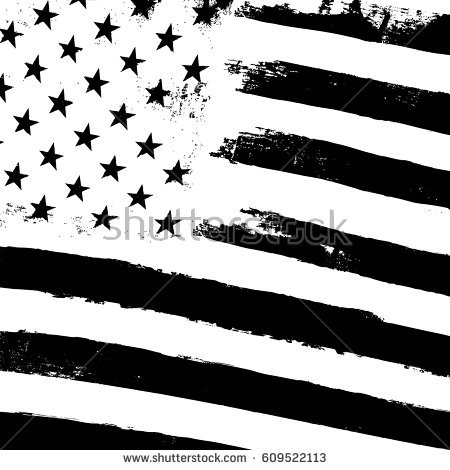 Monochrome grunge american flag background. Patriotic design template. Black  and white - Black And White Flag PNG