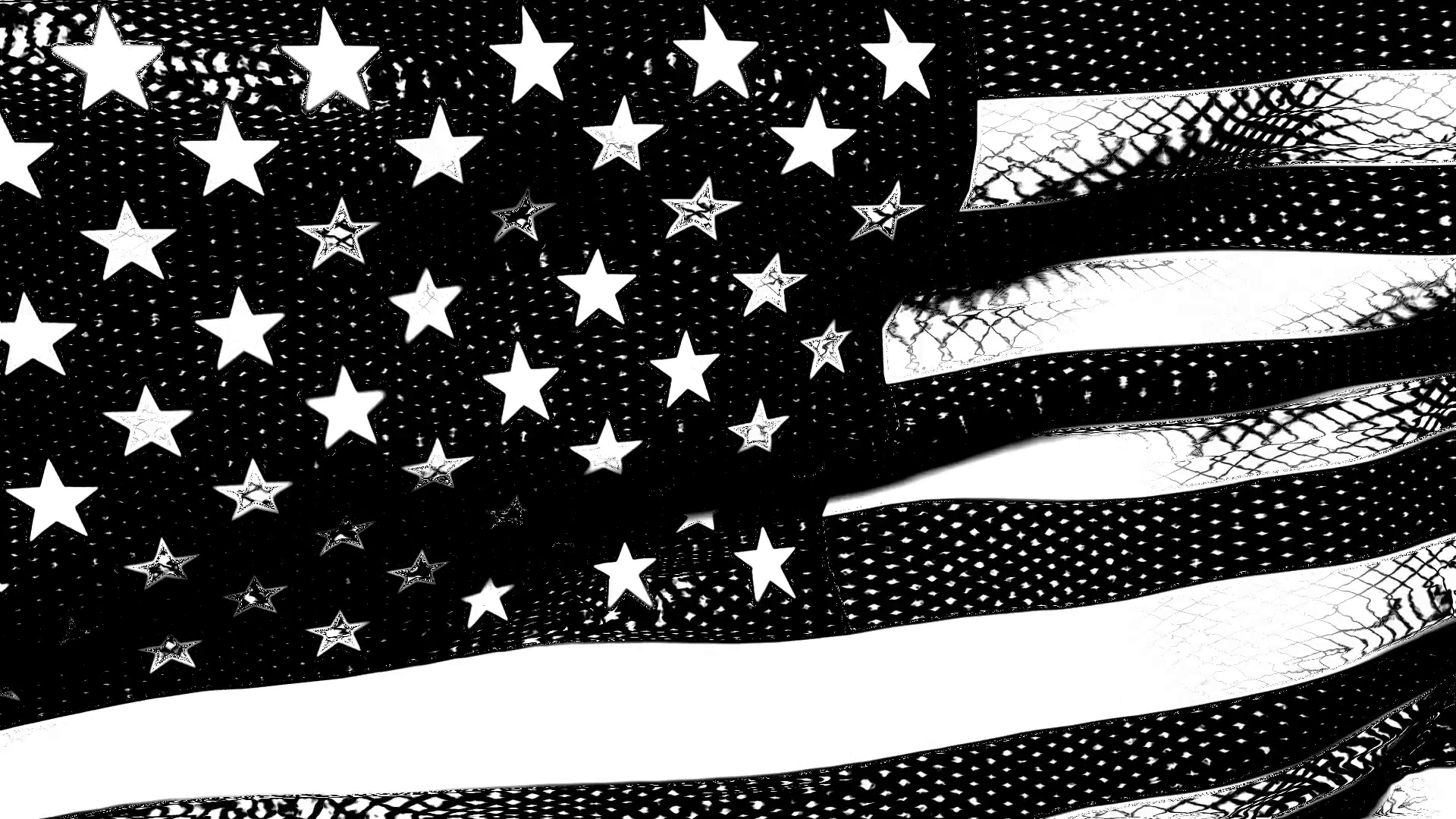 Old Glory 0212: A graphic black and white American flag waves in the breeze  (Loop). Motion Background - VideoBlocks - Black And White Flag PNG